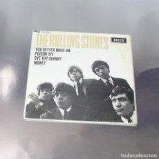 Discos de vinilo: THE ROLLING STONES ---YOU BETTER MOVE ON & POISON IVY & BYE BYE JOHNNY & MONEY ( UNICO EN TC ). Lote 193276085