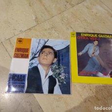 Discos de vinilo: ENRIQUE GUZMAN -LOTE DOS EP-. Lote 193296172