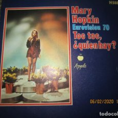 Dischi in vinile: MARY HOPKIN - TOC TOC / ¿QUIEN HAY? SINGLE EUROVISION 70 ORIGINAL ESPAÑOL APLLE RECORDS 1970. Lote 193324873