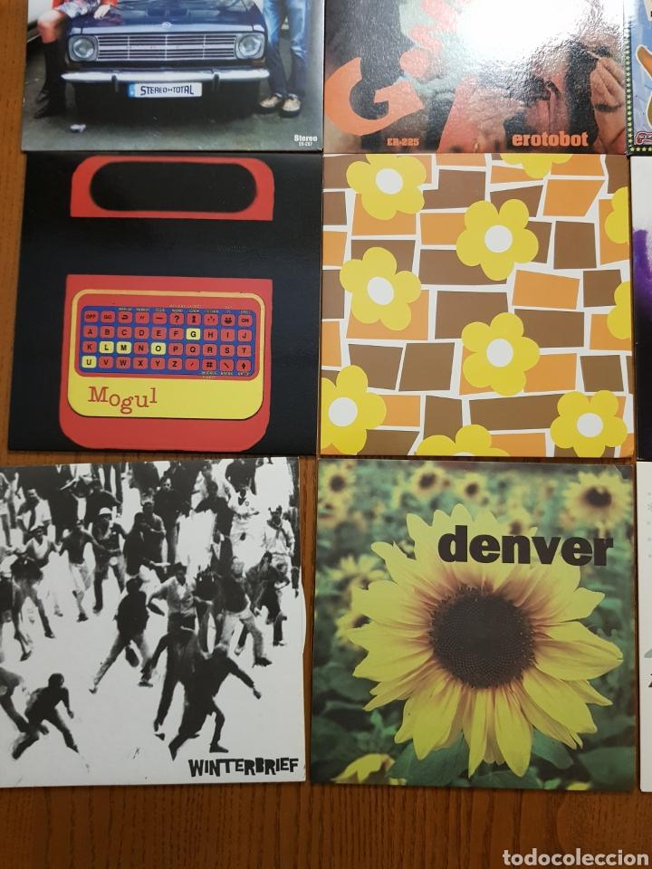 Discos de vinilo: Lote EPs vinilo Elefant Records. Helen Love, Denver, Mogul, Stereo Total. Indie. Vinilos de colores - Foto 2 - 224787131