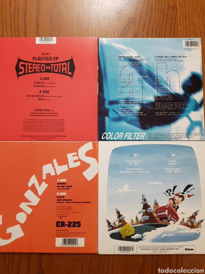 Discos de vinilo: Lote EPs vinilo Elefant Records. Helen Love, Denver, Mogul, Stereo Total. Indie. Vinilos de colores - Foto 5 - 224787131