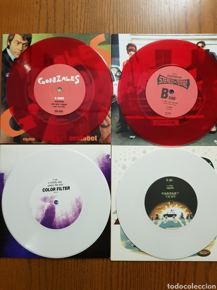 Discos de vinilo: Lote EPs vinilo Elefant Records. Helen Love, Denver, Mogul, Stereo Total. Indie. Vinilos de colores - Foto 9 - 224787131