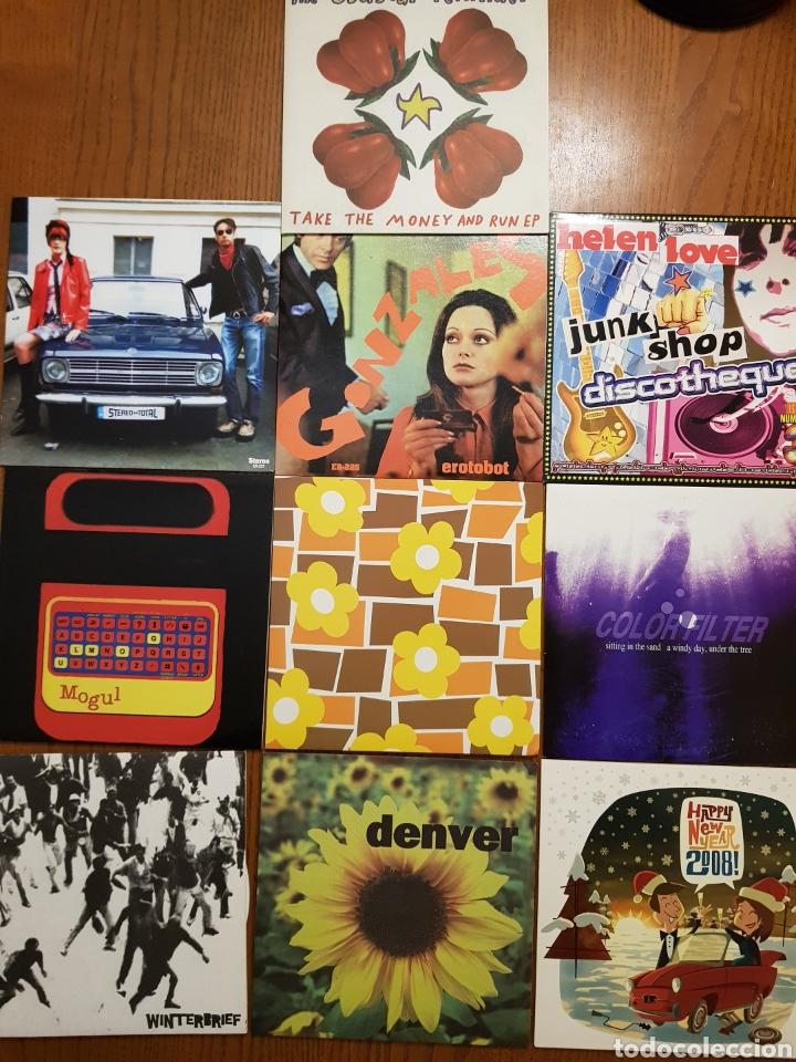 LOTE EPS VINILO ELEFANT RECORDS. HELEN LOVE, DENVER, MOGUL, STEREO TOTAL. INDIE. VINILOS DE COLORES (Música - Discos de Vinilo - EPs - Pop - Rock Internacional de los 90 a la actualidad)