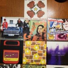 Discos de vinilo: LOTE EPS VINILO ELEFANT RECORDS. HELEN LOVE, DENVER, MOGUL, STEREO TOTAL. INDIE. VINILOS DE COLORES. Lote 224787131