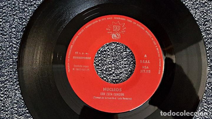 Discos de vinilo: Nucleos - Con esta canción / Calla, niña. editado por Pop. año 1.971. Single raro. no hay unidades. - Foto 3 - 193371110