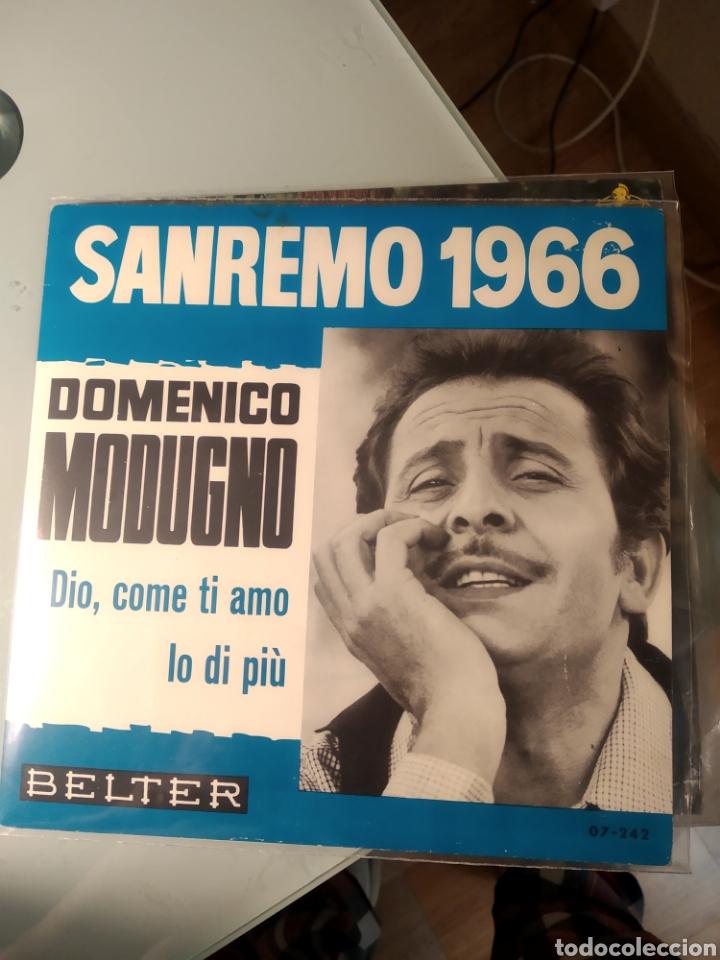 DOMENICO MODUGNO – DIO, COME TI AMO / IO DI PIÙ (Música - Discos - Singles Vinilo - Otros Festivales de la Canción)