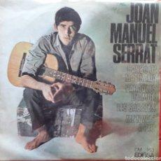 Discos de vinilo: JOAN MANUEL SERRAT 3 - CANÇO DE MATINADA - PARAULES D'AMOR - SABATES - SINGLE. Lote 193399172