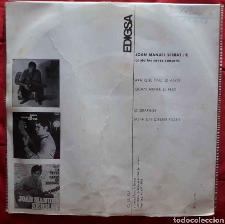 Discos de vinilo: JOAN MANUEL SERRAT 2 - ARA QUE TINC 20 ANYS - QUAN ARRIBA EL FRED - DRAPAIRE - SOTA UN CIRERER - SIN - Foto 2 - 193399531