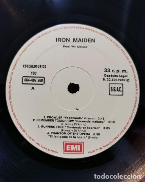 Discos de vinilo: IRON MAIDEN - IRON MAIDEN - LP DE VINILO 1ª EDICION ESPAÑOLA - Foto 2 - 193401992
