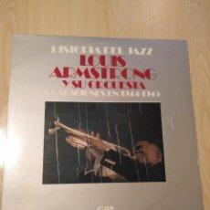 Discos de vinilo: LP - LOUIS ARMSTRONG Y SU ORQUESTA GRABACIONES EN 1944-1945 GRAMUSIC 1974. Lote 193403173