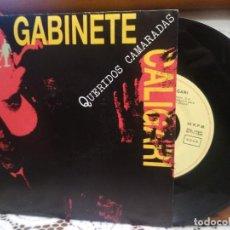 Discos de vinilo: GABINETE CALIGARI - QUERIDOS CAMARADAS + MI BUENA ESTRELLA SINGLE SPAIN PROMO 1992 PEPETO. Lote 193418060