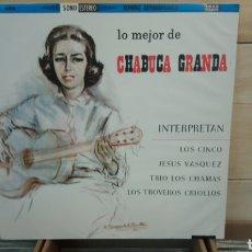 Discos de vinilo: LO MEJOR DE CHABUCA GRANDA. LP VINILO EDICIÓN PERUANA 1961. MÚSICA CRIOLLA DE PERÚ. Lote 193427261