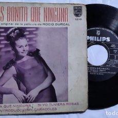 Discos de vinilo: ROCÍO DÚRCAL - MAS BONITA QUE NINGUNA DEL AÑO 1965 MEXICO (BANDA SONORA RARA). Lote 193444543