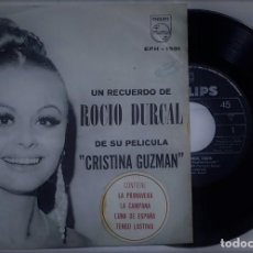 Discos de vinilo: ROCÍO DÚRCAL - UN RECUERDO DE CRISTINA GUZMÁN DEL AÑO 1969 MEXICO (BANDA SONORA RARA). Lote 193445315