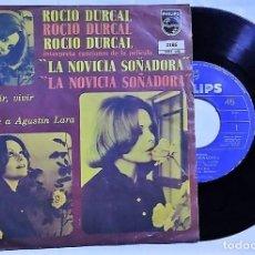Discos de vinilo: ROCÍO DÚRCAL - LA NOVICIA SOÑADORA DEL AÑO 1972 MEXICO (BANDA SONORA RARA). Lote 193446182