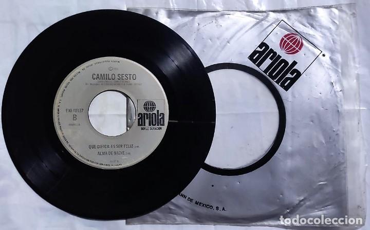 Discos de vinilo: Camilo Sesto - Amor Libre / Piel De Angel / Que Dificil Es Ser Feliz / Alma De Nadie de 1976 México - Foto 2 - 193454137