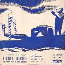 Discos de vinilo: EP SIDNEY BECHET SUMMERTIME FRANCE SOLO PORTADA. Lote 193551251