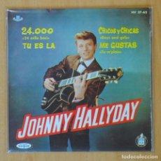 Discos de vinilo: JOHNNY HALLYDAY - 24.000 + 3 - EP. Lote 193554506
