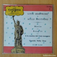Disques de vinyle: LOUIS ARMSTRONG Y MILLS BROTHERS - MARIA + 3 - EP. Lote 193554588