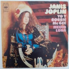 Discos de vinilo: JANIS JOPLIN. SINGLE ME AND BOBBIE MCGEE. Lote 193564530