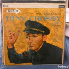 Discos de vinilo: PRECIOSO LP BING 5 THE ROAD BEGINS UK MONO ANTIQUISIMO DE LA SERIE BING´S HOLLYWOOD . Lote 193569083