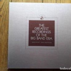 Discos de vinilo: THE GREATEST RECORDINGS OF THE BIG BAND ERA - VOL. 13 - 14- 15 - 16 BENNY GOODMAN + SHEP FIELS + T. Lote 193573878