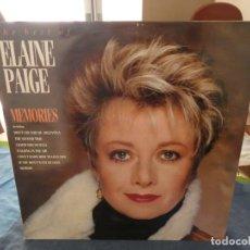 Discos de vinilo: LP INGLES MUY BUEN ESTADO ELAINE PAGE MEMORIES AÑOS 70. Lote 193581116