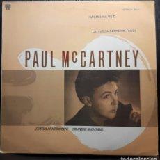 Discos de vinil: PAUL MCCARTNEY - BEATLES - HABIA UNA VEZ - MAXISINGLE - ARGENTINA - TITULOS EN ESPAÑOL - MUY RARO. Lote 193582222