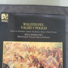 Disques de vinyle: WALDTEUFEL - VALSES Y POLKAS - WILLI BOSKOVSKY. Lote 193584720