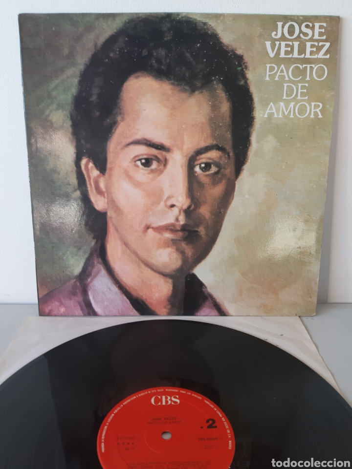 JOSE VELEZ. PACTO DE AMOR. CBS. 1988. ESPAÑA (Música - Discos - LP Vinilo - Cantautores Españoles)