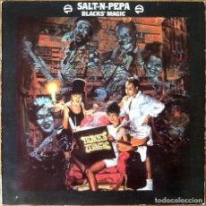 Discos de vinilo: SALT-N-PEPA : BLACK'S MAGIC [ESP 1990] LP. Lote 193622093