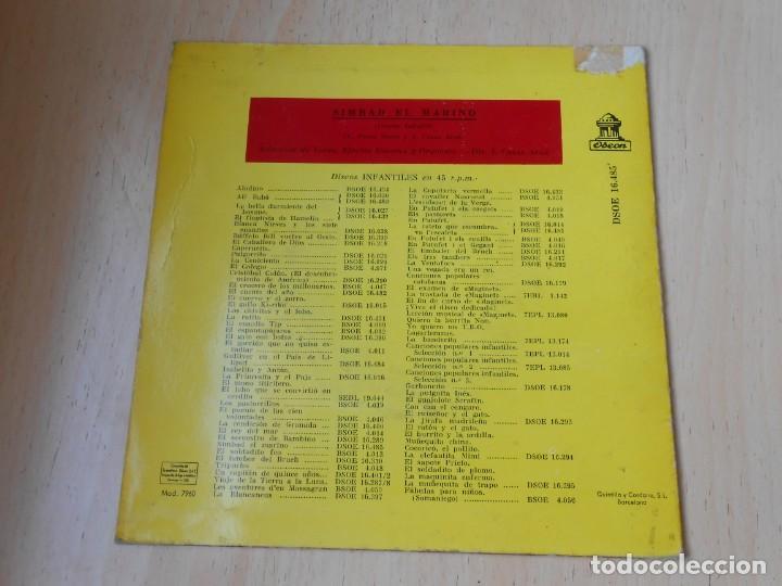 Discos de vinilo: CUENTO SIMBAD EL MARINO, EP, 1ª PARTE + 1, AÑO 1962 - Foto 2 - 193632732