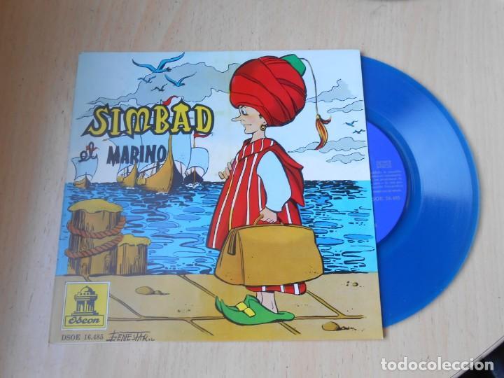 Discos de vinilo: CUENTO SIMBAD EL MARINO, EP, 1ª PARTE + 1, AÑO 1962 - Foto 3 - 193632732