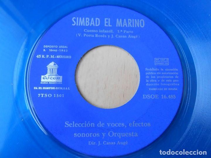 Discos de vinilo: CUENTO SIMBAD EL MARINO, EP, 1ª PARTE + 1, AÑO 1962 - Foto 8 - 193632732