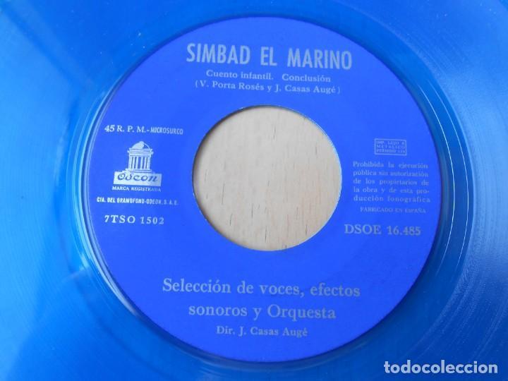 Discos de vinilo: CUENTO SIMBAD EL MARINO, EP, 1ª PARTE + 1, AÑO 1962 - Foto 9 - 193632732