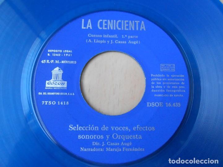 Discos de vinilo: CUENTO LA CENICIENTA, EP, 1ª PARTE + 1, AÑO 1961 - Foto 4 - 193633507