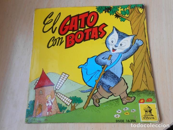 CUENTO: EL GATO CON BOTAS, EP, 1ª PARTE + 1, AÑO 1960 (Música - Discos de Vinilo - EPs - Música Infantil)