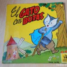 Discos de vinilo: CUENTO: EL GATO CON BOTAS, EP, 1ª PARTE + 1, AÑO 1960. Lote 193634975