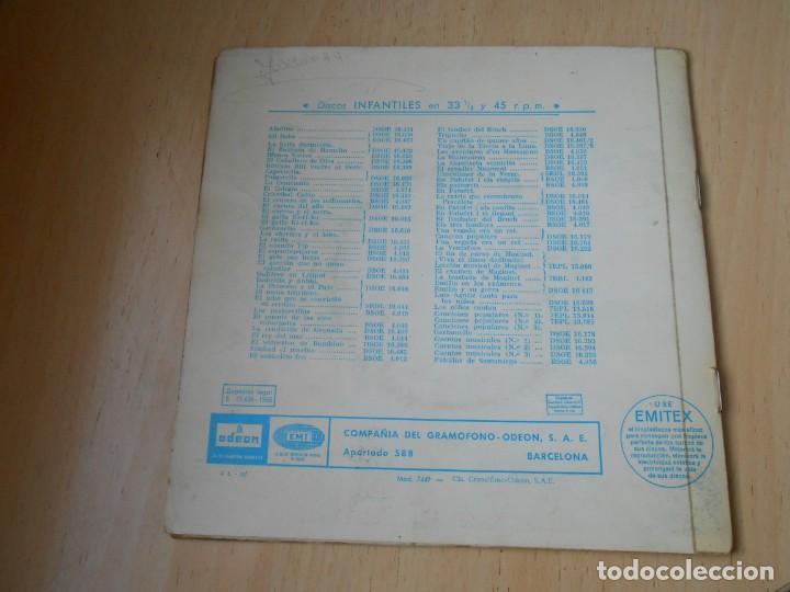 Discos de vinilo: CUENTO: EL GATO CON BOTAS, EP, 1ª PARTE + 1, AÑO 1960 - Foto 5 - 193634975
