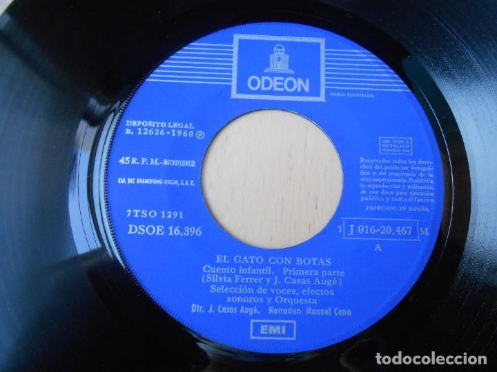 Discos de vinilo: CUENTO: EL GATO CON BOTAS, EP, 1ª PARTE + 1, AÑO 1960 - Foto 6 - 193634975