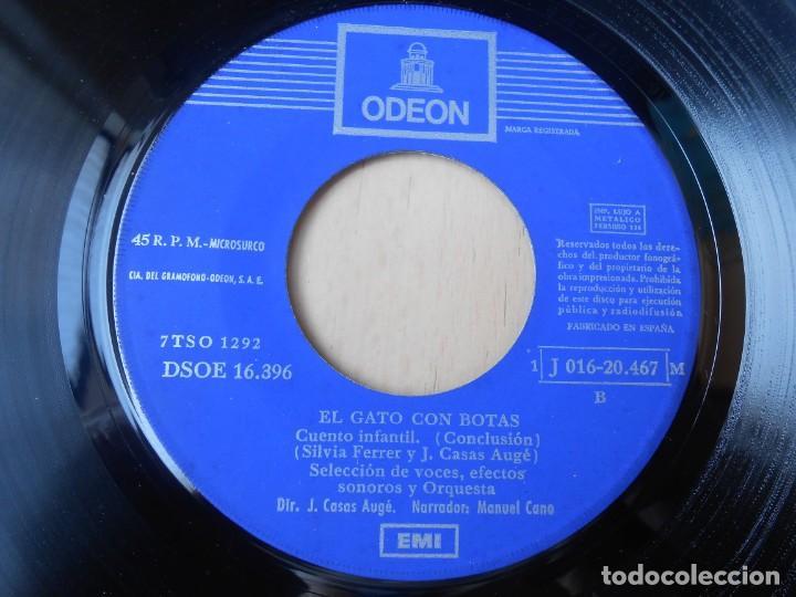 Discos de vinilo: CUENTO: EL GATO CON BOTAS, EP, 1ª PARTE + 1, AÑO 1960 - Foto 7 - 193634975
