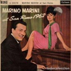 Discos de vinilo: MARINO MARINI. EP SELLO DURIUM. SAN REMO 1962. EDITADO EN INGLATERRA.. Lote 193646252