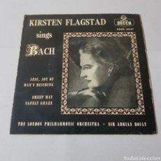 Discos de vinilo: KIRSTEN FLAGSTAD SINGS BACH. Lote 193662411