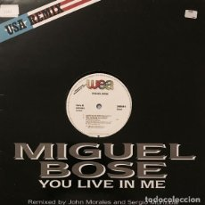 Discos de vinilo: MIGUEL BOSE, YOU LIVE IN ME, MAXI-SINGLE SPAIN 1986. Lote 193678090