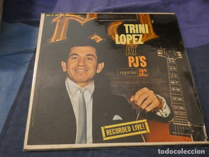 PRECIOSO VINILO AMERICANO DE EPOCA TRINI LOPEZ LIVE AT PJ´S USA 1960 (Música - Discos de Vinilo - Maxi Singles - Cantautores Internacionales)