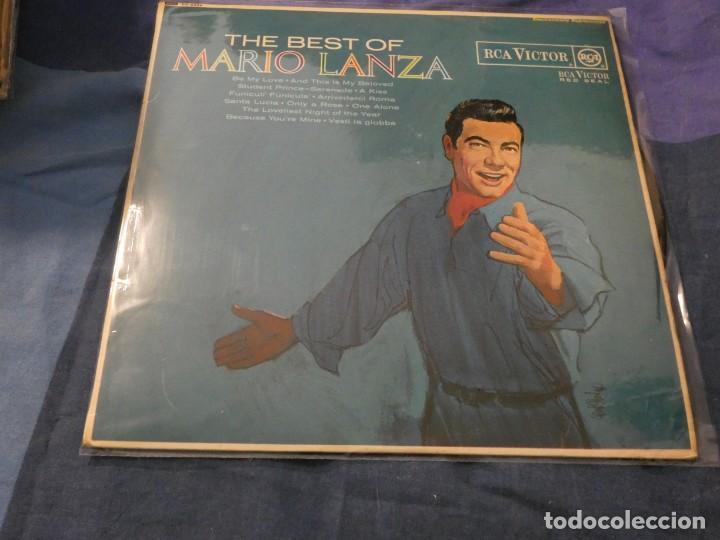 LP INGLES BUEN ESTADO MARIO LANZA THE BEST OF UK MUY ANTIGUO PORTADA BIEN VINILO MUY BIEN (Música - Discos de Vinilo - Maxi Singles - Cantautores Extranjeros)