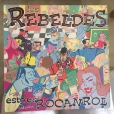 Discos de vinilo: LOS REBELDES: ESTO ES ROCK AND ROLL. Lote 193726155