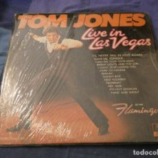 Discos de vinilo: LP AMERICANO ANTIGUO TOM JONES LIVE IN LAS VEGAS BUEN ESTADO A PESAR DE SU ANTIGUEDAD. Lote 193733013