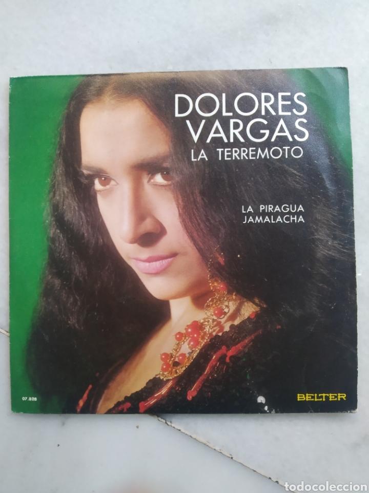 DOLORES VARGAS. LA TERREMOTO. SINGLE VINILO. (Música - Discos - Singles Vinilo - Flamenco, Canción española y Cuplé)