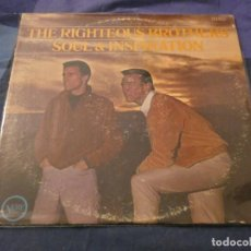 Discos de vinilo: LP AMERICANO ANTIQUISMIO THE RIGHTEOUS BROTHERS MUY BUEN ESTADO PARA SU EDAD SOUL AND INSPIRATION. Lote 193734782